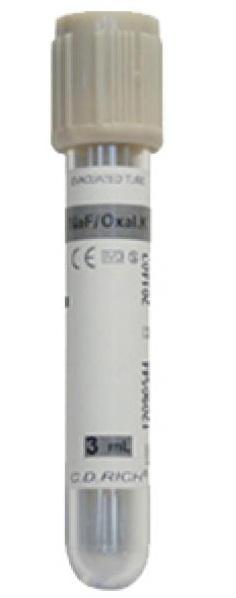 Пробирка со стабилизатором для измерения уровня глюкозы / Стабилизированная кровь / По отметку на пробирке